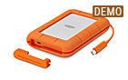 LaCie Rugged Thunderbolt USB-C 4 TB (integ. Cable) - Demoware